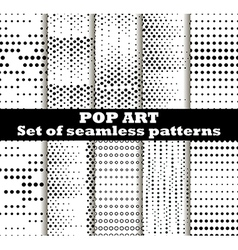 Dotted pop art seamless pattern background vector