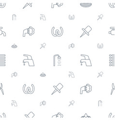 Drop icons pattern seamless white background vector