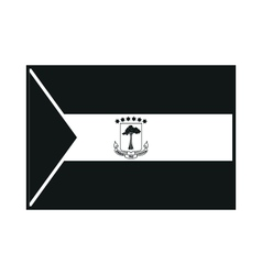 Equatorial Guinea Flag isolated on background vector