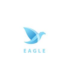 Falcon eagle bird logo body vector