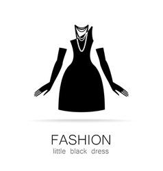 fashion little black dress template vector image vector image