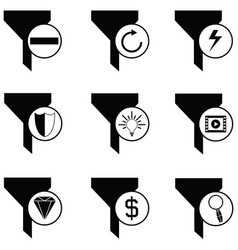 Filter icon set vector