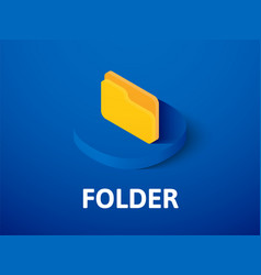 folder isometric icon isolated on color vector image
