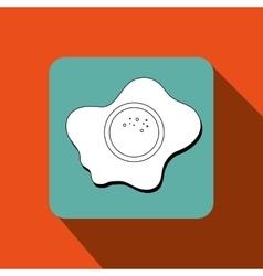 fried eggs design vector image