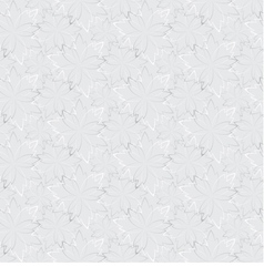 Grey seamless wallpaper with floral pattern vector image