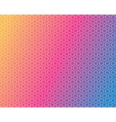 Hexagonal background vector image