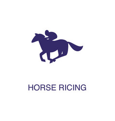Horse ricing element in flat simple style on white vector