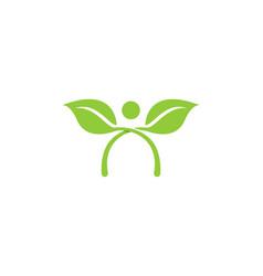 human character logo sign design vector image