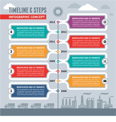 Infographic Concept - Timeline and Steps vector