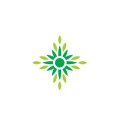 leaf eco nature logo2 vector image