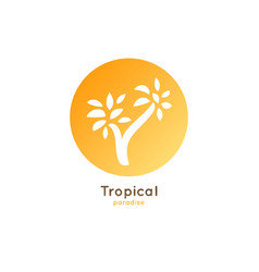 Logo tropical palm vector