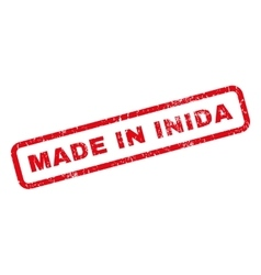 Made In Inida Rubber Stamp vector image