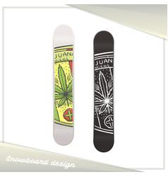 Medical marijuana snowboard five vector