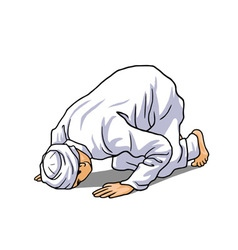 Muslim Doing Salah Salat Shalat Sholaat Sujud vector