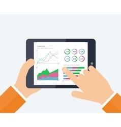 Online banking statistics concept vector image