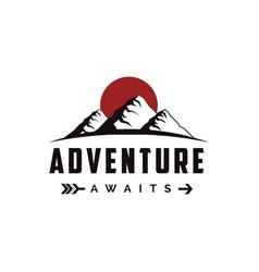 outdoor adventure travel mountain landscape vector image