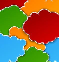 Paper color paper cloud background vector image