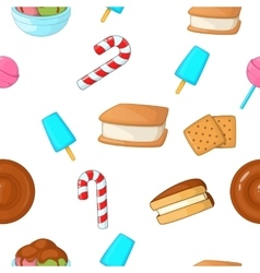 Patisserie pattern cartoon style vector