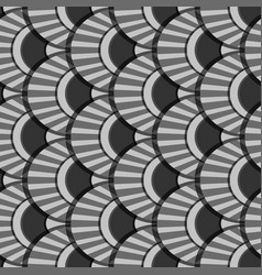 peacock tails grey seamless patter vector image