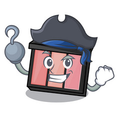 Pirate eye shedow in the cartoon shape vector