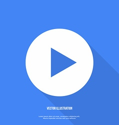 Play button web icon Flat design vector image
