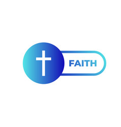 religion cross icon on white background faith vector image