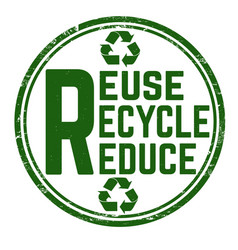 reuse recycle reduce grunge rubber stamp vector image