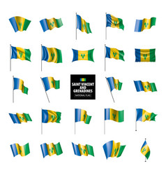 saint vincent and grenadines flag vector image