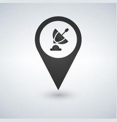 satellite map pointer antenna transmission symbol vector image