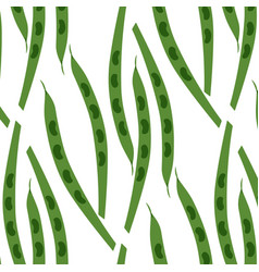 seamless pattern of pods of peas vector image