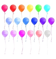 Set of colorful balloons isolated on white vector