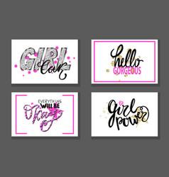 Set of graffiti fonts slogans vector