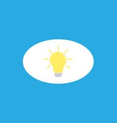 simple light bulb vector image