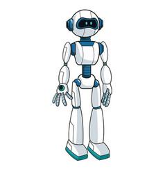 Smart robot futuristic technology vector