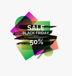 splash ink banner black friday sale original vector image