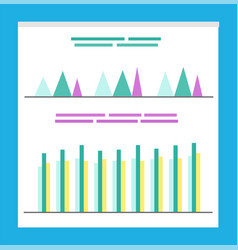 statistics and analysis business infographics vector image