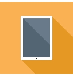 Tablet Computer Flat Icon vector