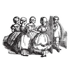 the childrens prattle vintage vector image