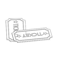 Ticket icon isometric 3d vector image