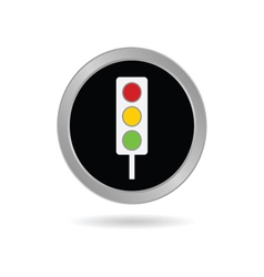 traffic ligh icon in black vector image