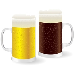 Two mugs of beer vector