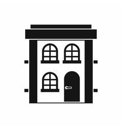 Two-storey residential house icon simple style vector