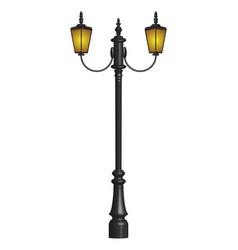 vintage street lamp design vector image