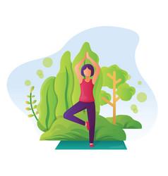 Women doing yoga practice yoga vector