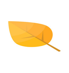yellow autumn leaf icon isometric style vector image