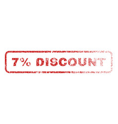 7 percent discount rubber stamp vector image vector image