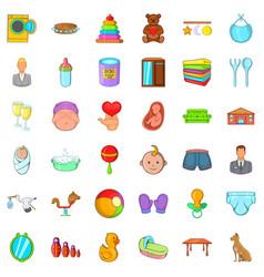 ball icons set cartoon style vector image