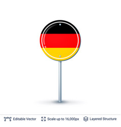 germany flag isolated on white vector image