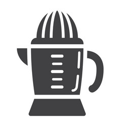 han juicer solid icon household and appliance vector image vector image