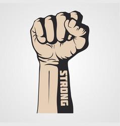 hand fist strength vector image